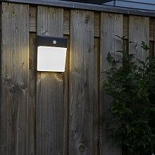 Außenleuchte grau mit Bewegungsmelder LED und