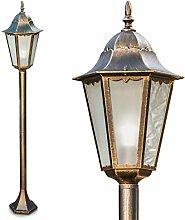 Außenleuchte Hongkong Frost, Stehlampe in antikem