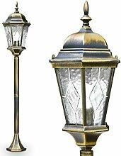 Außenleuchte Hongkong, Stehlampe in antikem Look,