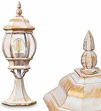 Außenleuchte Lentua, Sockelleuchte in antikem