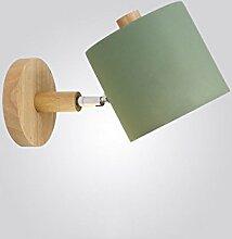 Außenleuchte Nordic Massivholz Schlafzimmer Wandleuchte, moderne minimalistische Hintergrund Lampe Designer Gang Nachttischlampen ( Farbe : A , stil : C )