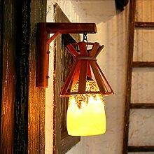 Außenleuchte Retro Wandleuchte - rustikale Restaurant Korridor Bar Cafe Kunst Wandleuchte (4W LED-Lampe enthalten)