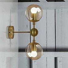 Außenleuchte Rustikale Wandleuchte Einfache Moderne Retro Aisle Nacht Leselampe Wandleuchte E27 Kreative Lampe vergoldet Magische Bohnen Wandleuchte