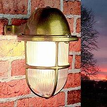 Außenleuchte Wandlampe rustikal Gitter Schirm