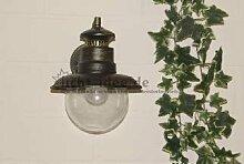 """Außenleuchte Wandleuchte schwarz - gold mit Dämmerungsschalter Osram LED """" Made for Licht-Idee®"""