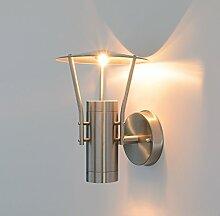 Aussenleuchte Wandleuchte Wegeleuchte Wandlampe Aussenwandleuchte Edelstahl 2x GU10 Fassung