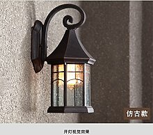 Außenleuchte wasserdichte wandleuchte retro stil hof wand kreativität Amerikanische terrasse treppenlampe Wandleuchte FG230 lo9 ( Color : Chrome )