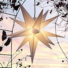 Außenstern Stern Adventsstern weiss - ca. 55 cm