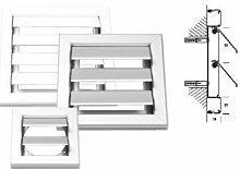 Außenverschlussklappe Aluminium 205 x 205 mm