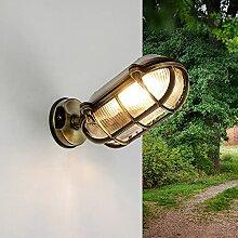 Außenwandlampe Messing Glas IP64 rostfreie
