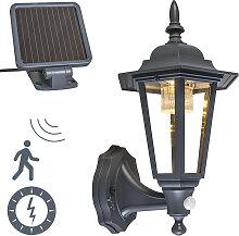 Außenwandlaterne Anthrazit inkl. LED und Solar -