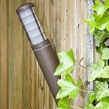 Außenwandleuchte aus Aluminium | Wandfackel rostfarben lackiert | Außenleuchte Energie sparend, IP 54