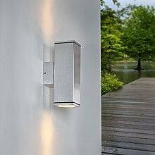Außenwandleuchte aus solidem Aluminium gebürstet