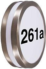 Außenwandleuchte Edelstahl mit Hausnummer IP44 -