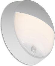 Außenwandleuchte grau inkl. LED mit