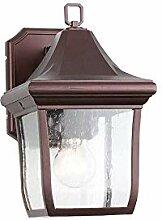 Außenwandleuchte rostfreie transparente Glaslampe