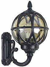 Außenwandleuchte Schwarz Kugel Lampe Vintage