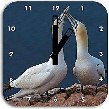 außergewöhnliche Vögel am Meer, Wanduhr