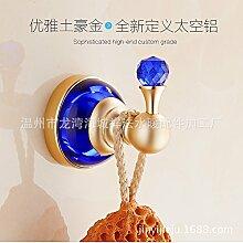 Außerhalb Des Hauses Platz Aluminium Lokalen Tyrannen Gold Crystal Hook Nach Der Tür Hook Jade Rose Gold, Ein