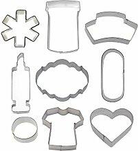 Ausstechformen-Set für Krankenschwester, 9-teilig