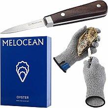 Austernmesser und Handschuhe Set – hochwertiges