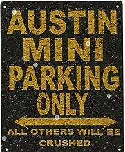 Austin Mini Metall Parking Rustikaler Stil den großen 30,5x 40,6cm 30x 40cm Auto Schuppen Dose Garage Werkstatt Art Wand Spiele Raum