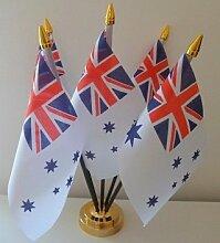 Australien navy ensign 5Flagge Desktop Tisch mit Gold Boden
