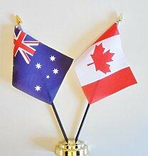 Australien und Kanada Freundschaft Tisch Flagge Display 25cm (25,4cm)