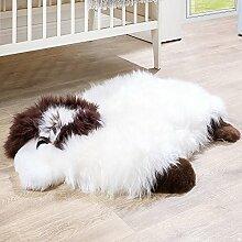 Australisches Lammfell Naturfell Spielteppich Kinderzimmer Dekofell Schaf Weiß, Grösse:60x82 cm