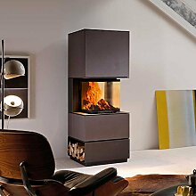 AUSTROFLAMM Design-Kamin Mel 55 Beton anthrazi