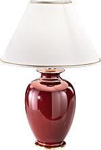 Austrolux Tischlampe Rot,Handgefertigt in
