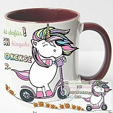 AUSWAHL Tasse Einhorn Unicorn mug Spruch Motive Fun Premium Geschenk Keramik, Original Sunnywall® Geschenkidee (69 Schokokekse cookies folgen rot)