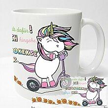 AUSWAHL Tasse Einhorn Unicorn mug Spruch Motive Fun Premium Geschenk Keramik, Original Sunnywall® Geschenkidee (69 Schokokekse cookies folgen weiss)