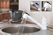 Ausziehbare schwenkbare Küchenarmatur mit