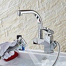Ausziehbare Spüle Wasserhahn heiß und kalt