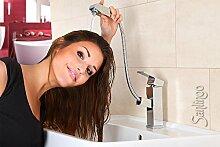 Ausziehbare Waschbecken Armatur mit Kopfbrause zum