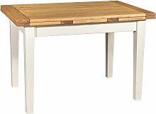 Ausziehbarer Country-Tisch aus massivem Lindenholz
