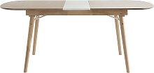 Ausziehbarer Esstisch aus hellem Holz L150-180 cm
