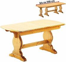 ausziehbarer Esstisch aus Massivholz LUNGO