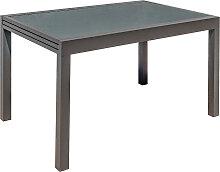 Ausziehbarer Gartentisch anthrazitgrau L135-270 cm