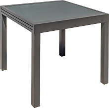 Ausziehbarer Gartentisch anthrazitgrau L90-180 cm