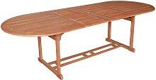 Ausziehbarer Gartentisch aus Eukalyptusholz massiv