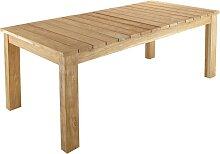 Ausziehbarer Gartentisch aus recyceltem Teakholz,