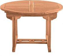 Ausziehbarer Gartentisch aus Teak Massivholz rund