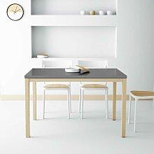 Ausziehbarer Glasstisch in Anthrazit Hochglanz