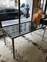 Ausziehbarer italienischer Vintage Glastisch,