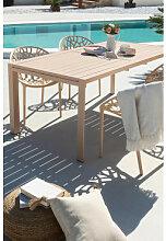 Ausziehbarer rechteckiger Aluminium-Gartentisch