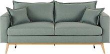Ausziehbares 3-Sitzer-Vintage-Sofa, wassergrün