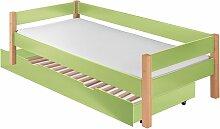 Ausziehbett Kids Nordic Kinderbett 90x200 cm grün