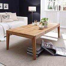 Ausziehtisch für Wohnzimmer Asteiche Massivholz